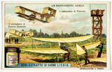 """Aerial Navigation, Liebig trade card, c 1910."""