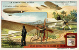 """Early flying machines, Liebig trade card, c 1910."""