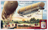 """Two British airships, Liebig trade card, c 1910-1920."""