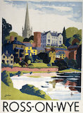 Ros-on-Wye, BR (WR) poster, 1950. Poster