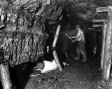 Undercutting at the coal face, Foxyards Pit, Staffordshire, c 1890s.
