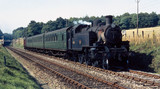 Steam locomotive with train, near Chilham,