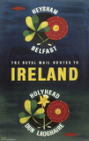 'The Royal Mail Routes to Ireland', BR poster, 1957.