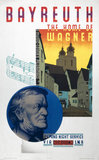 'Bayreuth, the Home of Wagner', LNER poster, 1931.