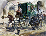 'Richard Trevithick's London Road Carriage', 19th century.