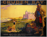 'Cruden Bay - Seekers of Good Spirits from Duty Free', LNER poster, 1935.
