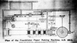 Plan of a Fourdrinier paper-making machine, 1812.