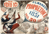 Poster advertising a French prophetical almanac, 1851.