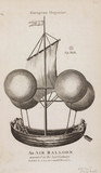 'An Air Balloon invented in the last Century', 1670.