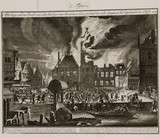 The fire at Amsterdam's old city hall, Holland, 7 July 1652.