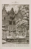 House damaged by fire, Amsterdam, Holland, 1683.