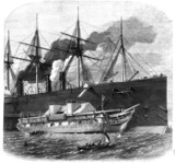 Shipping cable on Great Eastern, 1865.