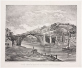 'The Iron Bridge near Coalbrook Dale', Shropshire, 1835.