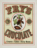 Advertisement for Fry's chocolate, c 1890.
