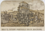 'Hart's Patent Portable Brick Machine', 1848-1851.