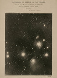 Pleiades star cluster with nebulosity (M45), 1888.