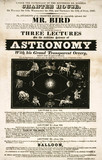 Mr Bird's lectures on astronomy, Westminster, handbill, London, 1830.