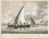 'A Canoe and Natives of Mulgrave's Range', Australia, c 1788.