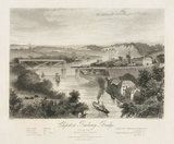 Chepstow bridge over the River Waye, Monmouthshire, 1851.