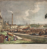 'View of the depot looking South', Glasgow & Garnkirk Railway, 1832.