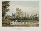'East View of Ely from the Railway', 1845.