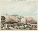 'Bridge over the canal at King's Langley, London & Birmingham Railroad', 1837.