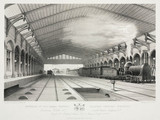 The interior of Bristol Station, 19th century.