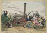 'The Pleasures of the Rail Road- Caught in the Railway!', c 1840.