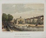 A railway line next to the K K Equitation in Vienna, Austria, 19th century.
