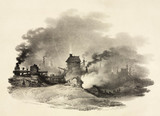 An industrial scene, near Shifnal, Shropshire, 1820.