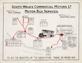 'South Wales Commercial Motors Ld Motor Bus Services', c 1925.