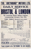 Greyhound Coaches timetable, 1925.