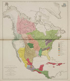 'Ethnographical Map of North America, in the Earliest Times', 1843.