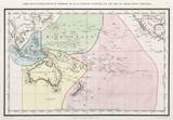 Map of the Pacific Ocean, 1833.