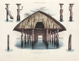 Sacred house, Dorey village, New Guinea, 1826-1829.