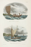 Sailing canoes, Fiji and Solomon Islands, 1826-1829.