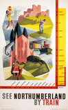 'See Northumberland by Train', BR (NER) poster, 1962.