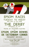 'Epsom Races', BR poster, 1961.