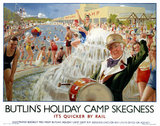 'Butlin's Holiday Camp, Skegnes', LNER poster, 1930.