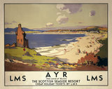 'Ayr: The Land of Burns', LMS poster, 1923-1947.