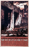 'LNER Industrial Centres - Newcastle on Tyne', LNER poster, c 1924.