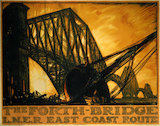 'The Forth Bridge', LNER poster, 1923-1947.
