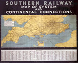 'Map of System and Continental Connections', SR poster, 1935.