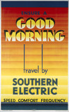 'Ensure a Good Morning - Travel by Southern Electric', 1933.