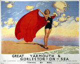 'Great Yarmouth & Gorleston-on-Sea', LMS and LNER poster, 1923-1947.