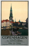 'Copenhagen - An Ideal Holiday Centre', LNER poster, c 1930s.