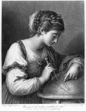 The muse Urania, 1 January 1781.