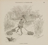 Duck-shooting by velocipede, 1898.