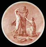 Nymphs adorning the statue of Pan, 1776.