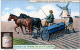 """Sowing seeds, Liebig trade card, c 1870-1920. """
